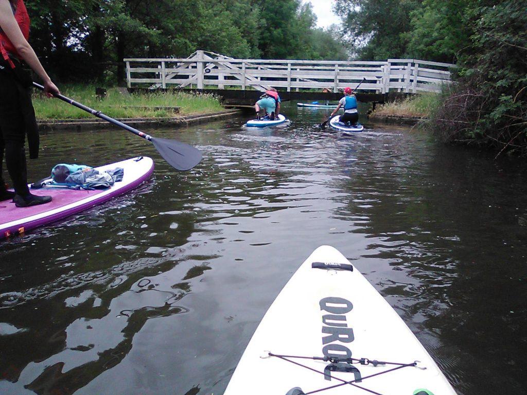 Under a low bridge
